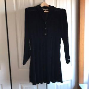 Black velvet dress by Desire size Small